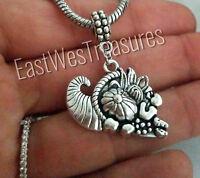Fall Autumn Thanksgiving cornucopia Charm pendant for bracelet necklace-European