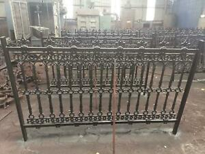 BEAUTIFUL CAST IRON VICTORIAN STYLE FENCE PANELS - H004