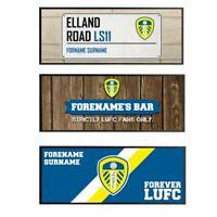 Personalised Leeds United FC Bar Runners - Choose Design Gift LUFC