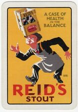 Playing Cards 1 Card Old Vintage Wide REIDS STOUT Beer Brewery Man Signed WALTON