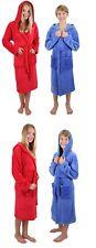 Betz Kinder Bademantel mit Kapuze Jungen Mädchen Farben blau & rot