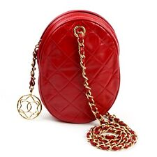 CHANEL Red Lambskin Camera Bag