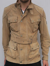 Belstaff Gold Label Suede Leather Perforated Panther Biker Trialmaster Jacket M