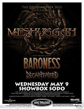 Meshuggah / Baroness / Decapitated 2012 Seattle Concert Tour Poster -Metal