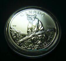 2012 Canada $5 Cougar Wild Life series 1oz .9999 Fine Silver Bullion Coin round