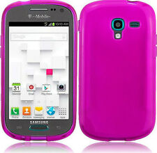 For Samsung Galaxy Exhibit T599 TPU CANDY Flexi Gel Skin Case Cover Hot Pink