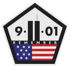 "Remember 9 11 Memorial Sticker Sticker Decal 3.5"" x 3.5"" World Trade Center"