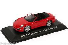 Original Carreras PORSCHE 911 991 CABRIOLET MINICHAMPS 1.43 Escala Modelo de