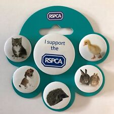 *NEW* RSPCA Button Badge Set. Set of 6. *I SUPPORT THE RSPCA!* Charity Sale!