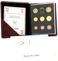 Österreich 2003 KMS 1 Cent bis 2 Euro Polierte Platte im Etui