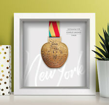 New York Marathon Personalised Medal Frame (script) - A unique gift!