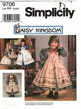 Simplicity Sewing Pattern Girl's & Doll DRESS 9706 Daisy Kingdom 3-4-5-6 UNCUT