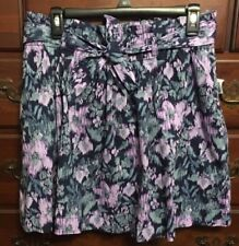 Old Navy Purple, Gray, Navy Abstract Floral Boho Short Skirt Size 10 NWT