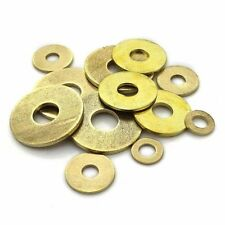 M2 to M20 All Sizes Solid Brass Flat Washers Gasket Discs Ring Shim