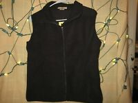COLORADO TIMBERLINE Vest Black Full Zip Fleece Zip Pockets Women's Medium *NEW*