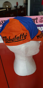 Vintage 1974 BIC Motobecane cycling cap casquette maglia ciclismo jersey Merckx