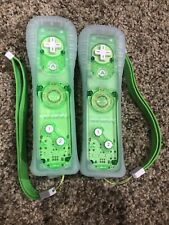 2 Nintendo Wii Console Green Rock Candy Remote Game Controllers TESTED!!