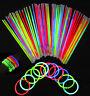 """8"""" Glow Sticks Bracelets Necklaces Neon Colors Party Favors Disco Rave Rock"""
