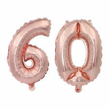 """Giant 60th Birthday Party Number 60 Foil Self Inflating Balloon Air 32"""" Age 60"""