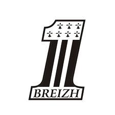 Sticker plastifié NUMBER ONE BREIZH Bretagne - Celtique - Racing - 11cm x 8m