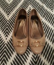 ANNAPELLE Flats Taupe Mushroom Brown Mary Janes Court Shoes Leather Beige 8 B51
