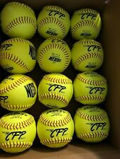 "Brand New Dudley 12"" Cfp Cfp Nfhs Leather Fastpitch Softball - Pack of 12"