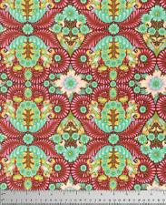 By 1/2 Yard ~ Free Spirit Tula Pink Fabric ~ Slow & Steady Tortoise Orange Crush