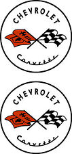 """2 Chevrolet Corvette  Decals  10""""  FREE SHIPPING"""