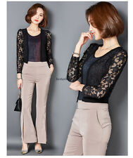 Korean Women Lace Slim Short Cape Shawl Sun Protection Coat Jacket Cardigan 2XL