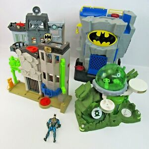 Batman Imaginext Lot of Toys Batcave Gotham City Playsets Green Lantern Wayne