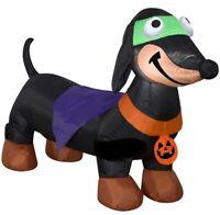 HALLOWEEN 4 FT DACHSHUND WEINER DOG HOT DOG  Airblown Inflatable YARD DECORATION