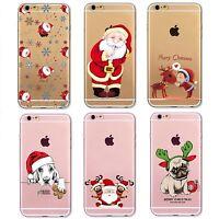 COVER CUSTODIA NATALE MERRY CHRISTMAS in TPU SILICONE per Iphone 6 6s 7 8 Plus