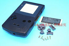 W Transparent Black Housing Shell Case Cover Parts f Nintendo Gameboy Color GBC