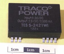Traco TES 5-2411WI 5W Isolated DC/DC Converter, Vin 18 to 36 Vdc, Vout 5Vdc 1A