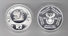 SOUTH AFRICA - SILVER PROOF 2 RAND COIN 2006 YEAR KM#435 WORLD FOOTBALL 2010