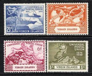 British Virgin Islands 1949 UPU Set SG126-29 MNH