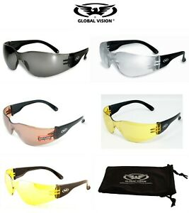Clear Copper Yellow Tinted Sports UV400 Sunglasses 4 Cricket Cycling Golf Tennis