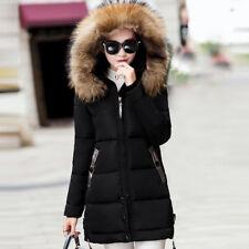 2017 Winter Women's Slim Hooded Down Padded Long Warm Parka Outwear Jacket Coat