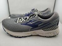 Brooks Adrenaline 19 Grey/Blue Running Shoes Men's US 9.5 (318)