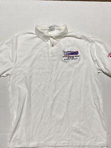 Vintage US 500 CART 1996 Racing Inaugural Race MIS NASCAR Hanes Polo Shirt XL