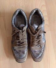 s.oliver Sneaker, NEU, Gr. 39/40, hellbraun, schlangenmuster, modern, metallic