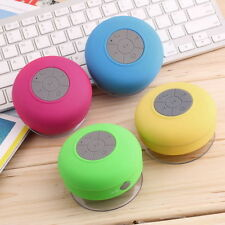 Mini Waterproof Wireless Bluetooth Handsfree Mic Suction Speaker Shower Car F CJ