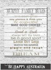 PERSONALISED PRINT ON STRETCHED CANVAS 40x50x4cm PUT ANY WORDS YOU LIKE