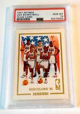 MICHAEL JORDAN PSA10 1991 SKYBOX USA GOLD TEAM CARD NO# EXTREMELY RARE NEW