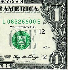 2006 $1 FRN (( Birthday Note )) August 22, 1966 Uncirculated # L08226600A