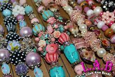 100 Strands Elite Lilah Ann Designer Beads - Lampwork, Indonesian, Hand Beaded