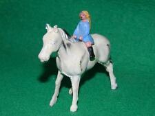 VINTAGE Johillco JOHN HILL & Co PIOMBO Farm Girl Equitazione Bareback su un cavallo Shire