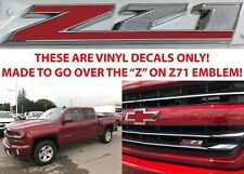 Cajun Red Tintcoat Overlays For Z71 Grill Emblem For 2014-2018 Chevy Silverado