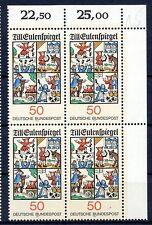 Bund Mi-Nr 922 4er Block+E2  (50) -Till Eulenspiegel - ** Postfrisch 1977