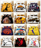 3D NBA Basketball Boy Bedding Set Duvet Cover Pillowcase Comforter/Quilt Cover